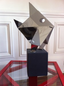 Castagnole inox miroir 60cm..