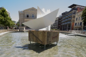 Sculpture métal bateau origamieron_28